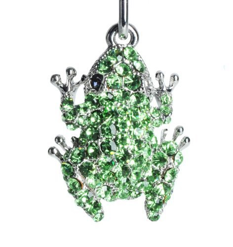 Lilly Rocket Small Green Rhinestone Frog Key Chain with Swarovski Crystals (Frog Crystal compare prices)