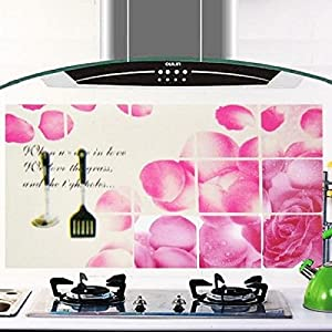 Great Value Kitchen Tools & Gadgets Kitchen Sheet Peach Floral Pattern Wallpaper Sticker Decal Wallpaper Pink & Black by Mzamzi