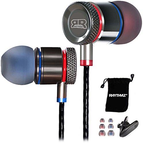 rhythmz® HD9SmartTalk [per iOS e Android] professionale in-ear cuffie con microfono e controllo del volume
