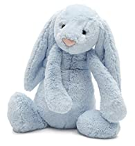 Jellycat Bashful Blue Bunny, Large - 14 inches
