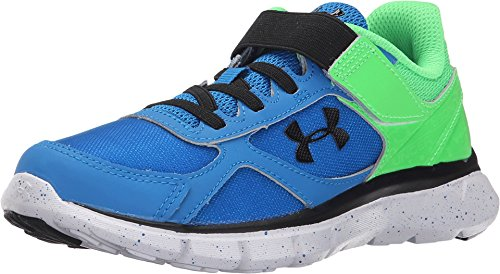 Under Armour Kids Boy's UA BPS Velocity RN GR AC (Little Kid) Snorkel/Laser Green/Black Sneaker 3 Little Kid M