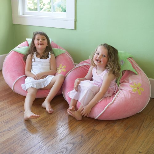 Kids Pink Strawberry Bean Bag Chair U0026 Floor Cushions, Kids Bean Bag Sofa,  Plush Large Beanbag For Childrenu0027s U0026 Girlu0027s Room Decor (Free Shipping In  U.S) ...