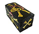 Hand Carved Beautifully Detailed Treasure Box Chest Pirate with Bandanna Design