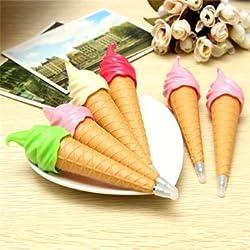 1PCS Ball Pen Cute Novelty Ice Cream Ball Pen School Office Kids Toy Gift