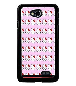 PrintDhaba Kitty pattern D-1772 Back Case Cover for LG L90 (Multi-Coloured)