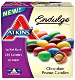 Atkins Chocolate Peanut Candies, 1.2oz Bags, 5 Count (Pack of 4)