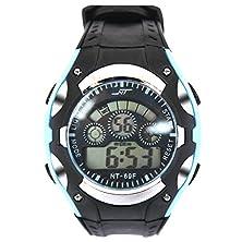 buy Good Price A1052 Sport Watch Good Price High Quality Multifuntion Alarm Week Date Chronograph Digital Quartz Wristwatches (Sky Blue)