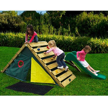 Plum® My First Play Centre Wooden Climbing Frame with Slide and Play Den