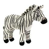 FAO Schwarz 9 inch Plush Miniature Zebra – White and Black