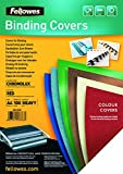 Fellowes Chromolux A4 5378303 couVertures de reliure brillantes pack de 100 Rouge