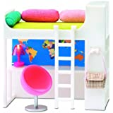 Lundby 1:18 Scale Dolls House Smaland Teenage Loft Bed Set