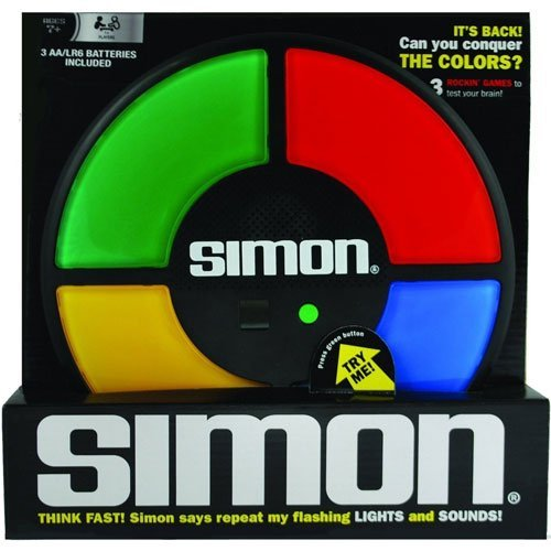Simon Memory Game. The retro classic where you must memorise the flashing colour sequences.