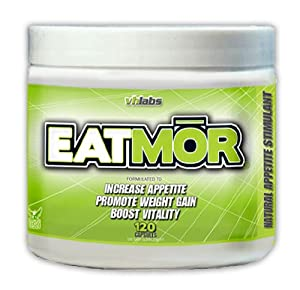 Eatmor Appetite Stimulant | Natural Weight Gain Pills for Men and Women| Supplement for Gaining Weight | Enhancement and Enlargement Formula to Put on More Muscle Mass From Your Butt to Your Arms | Weight Gainer Helps Support Increase in Weight | 120 Capsules 30 Day Supply