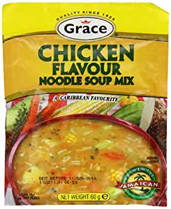 Grace Chicken Noodle Soup Packets 60 g (12 Units X Pack of 12)