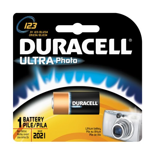Duracell Dl123Abpk Ultra Photo Lithium/Manganese Dioxide Battery, 123 Size, 3V (Case Of 6)