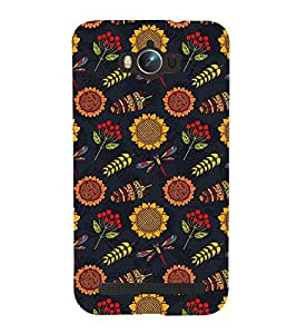 FLOWER AND LEAVES ANIMATED PATTERN 3D Hard Polycarbonate Designer Back Case Cover for Asus Zenfone Max :: Asus Zenfone Max ZC550KL
