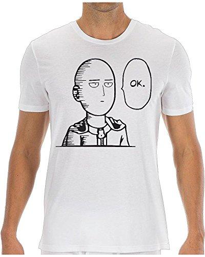 One Punch Man Saitama OK Funny maglietta da uomo Medium