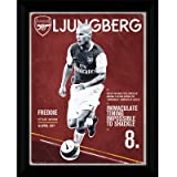 Arsenal FC. Fredrik Ljungberg Retro Framed Picture 16