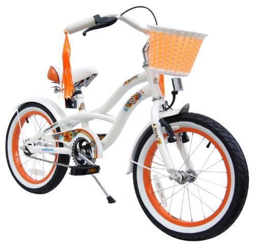 bike star 16 zoll kinder fahrrad cruiser wei. Black Bedroom Furniture Sets. Home Design Ideas