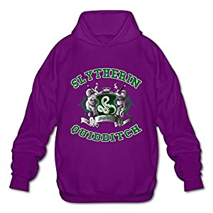 NUBIA Men's Harry Slytherin Quidditch Potter Fashion Hoodie Purple M