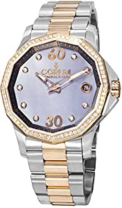 Corum Admirals Cup 082.101.29-V200PK10 38mm Diamonds Automatic 18K Gold Case Multicolor Gold Tone Stainless Steel Anti-Reflective Sapphire Women's Watch