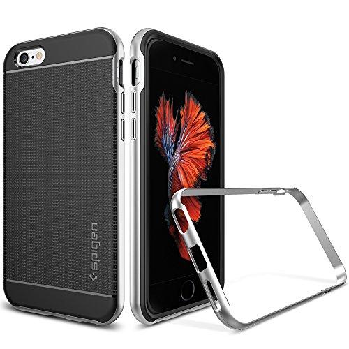 Cover-iPhone-6S-Spigen-Cover-iPhone-6-Stile-Elegante-Bumper-Neo-Hybrid-Satin-Silver-Elaborata-Struttura-Designo-Custodia-iPhone-6S-Custodia-iPhone-6-SGP11620