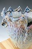 Green to Purple Flower Vase 07, Sculpted Pottery Vase, Large Ceramic Vase, Sculptural Ceramics
