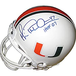 Michael Playmaker Irvin HOF 07 Autographed Miami Hurricanes Mini Helmet - Autographed... by Sports+Memorabilia