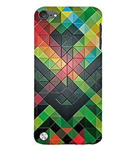 3D Checks Pattern 3D Hard Polycarbonate Designer Back Case Cover for Apple iPod Touch 5