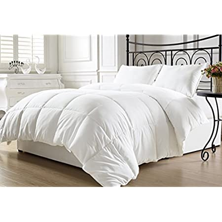 """Soft and luxurious plush down alternative comforter. Features  Color: White Size: Twin100% Hypoallgenic Poly Fiber Fill Down AlternativeMachine washableThis set includes:1 Comforter (64""""x88"""")"""