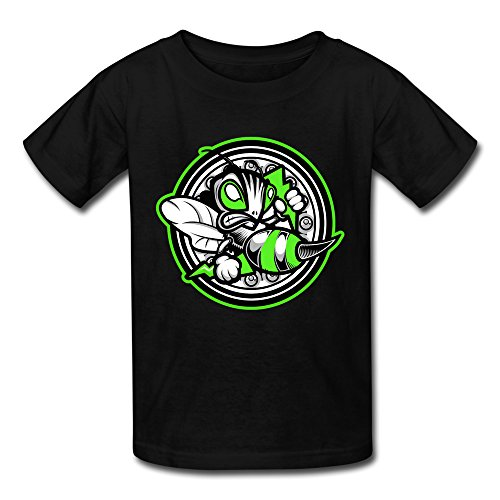 XJ-cool Scrawl Angry ape, per bambini, motivo T-shirt, colore: nero nero XL