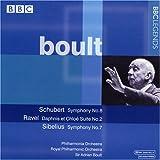 シューベルト:交響曲第8番/ラヴェル:ダフニスとクロエ組曲第2番/シベリウス:交響曲第7番(フィルハーモニア管/ボールト)(1963, 1964)