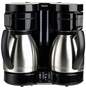 Dual Thermal Coffee Maker : Amazon.com: Krups 324-42 DuoThek 10-Cup Dual Thermal Coffeemaker, Stainless Steel: Drip ...