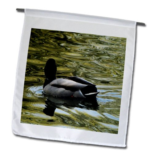 Krista Funk Creations Migratory Birds - Mallard Duck Swims Away - 18 x 27 inch Garden Flag (fl_18562_2)