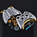 Game Silver Chrome Full Set Shell Case Gold Buttons with Tools For Xbox 360 Controller
