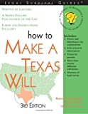 """""""How to Make a Texas Will, 3E"""" (Legal Survival Guides)"""