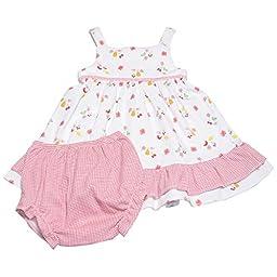 Kissy Kissy Baby Girls Hawaiian Splendor Tank Dress With Diaper Cover-12-18mos
