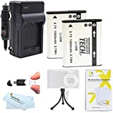 Replacement LI-50B 2 Pack Battery And Charger Kit For Olympus SZ-12, XZ-1 SZ-10 SZ-20 SZ-30MR SP-800UZ SP-810UZ SZ-11 SZ-31MR iHS SZ-16 iHS SZ-15 TG-830 iHS TG-630 iHS TG-850 iHS TG-860 Digital Camera