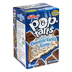 Pop-Tarts, Chocolate Vanilla Creme, 8-Count Boxes (Pack of 12)
