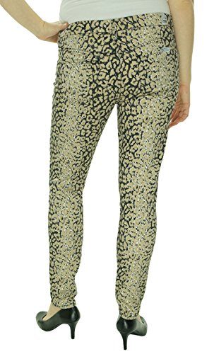 7 For All Mankind Women's Highwaist Ankle Skinny 28 Inch Inseam Jean, Mixed Leopard, 30