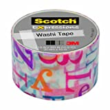 Scotch Expressions Washi Tape, 1.18-Inches x 393-Inches, Alphabet Soup, 6 Rolls/Pack