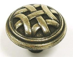Top Knobs M161  Celtic Knob Brass/Antique Brass