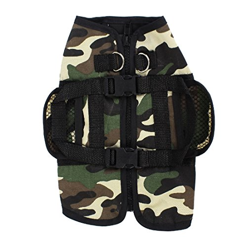 [Camouflage Pattern Pet Dog Jacket Vest XS Army Green Beige] (Army Dog Costumes)