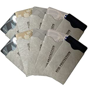 Amazon 10 Pack RFID Protection TYVEK Credit Card