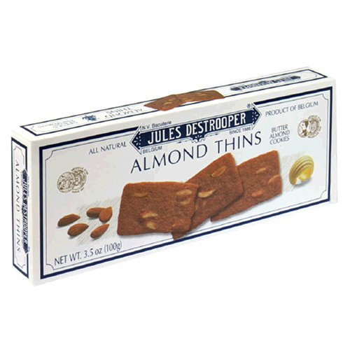 Jules Destrooper Almond Thins, 3.5-Ounce Boxes (Pack of 12)