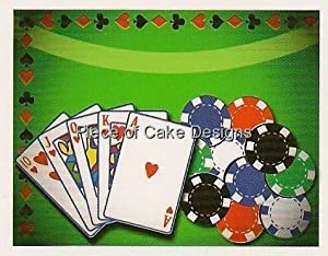 1/8 Sheet ~ Poker Party Birthday ~ Edible Image Cake/Cupcake Topper!!!