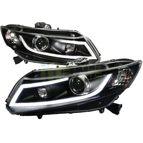 2012 2013 honda civic r8 style led projector headlights. Black Bedroom Furniture Sets. Home Design Ideas