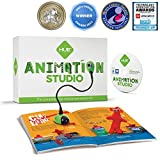 HUE Animation Studio (Green) for Windows PCs and Apple Mac OS X: complete stop motion animation kit with camera, software and book