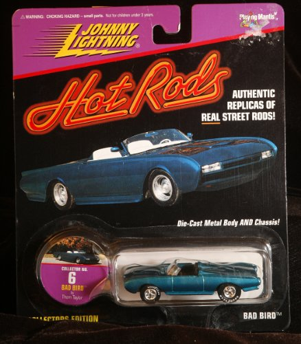 Johnny Lightning Hot Rods - Thom Taylor - BAD BIRD - Ford Thunderbird Convertible Collectors Edition - Collector #6