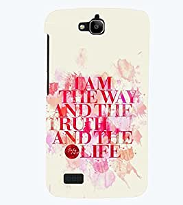 printtech Truth Of Life Back Case Cover for Huawei Honor Holly